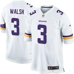 9dc74aca0 Youth Blair Walsh Elite White Nike Jersey  NFL Minnesota Vikings  3 Road  Laquon Treadwell