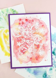 389 best diy art projects images on pinterest do crafts wall easy watercolor art rubber cement resist watercolor art diy solutioingenieria Image collections