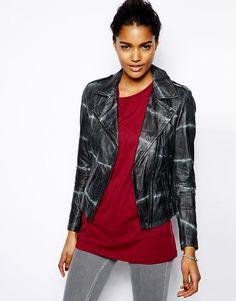 Muubaa Safi Tie Dye Leather Jacket