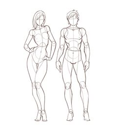 Drawing reference for human anatomy proportions // Jerome Okutho's insight: This reference guide is for anyone who wants a quick way to learn about the proportions of the female and male anatomy. The guide breaks down the complex anatomy into simple shapes you can use for sketches and other drawing projects.