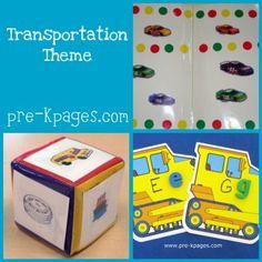 transportation ideas and activities for childcare, preschool, pre-k, or kindergarten via   www.pre-kpages.com/transportation/