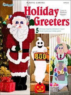Plastic Canvas - Holiday & Seasonal Patterns - Christmas Patterns - Holiday Greeters
