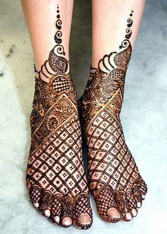 Legs Mehndi Designs More