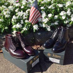Alden Shell Cordovan Perforated Cap Toe Boots. Grant Last. | D5812 Color 8 Shell Cordovan & D5813 Black Shell Cordovan