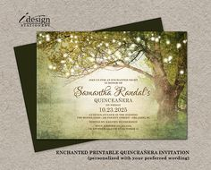 Enchanted Forest Quinceanera Invitation