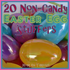 20+ Non-Candy Easter Egg Stuffer Ideas -  Bouncy Ball, Raisins, Chap Stick, Matchbox Cars
