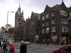 The New Fisherwick Presbyterian Church (now the Spires Shopping Centre) in Belfast was built in 1905. The impressive three-storey building across from Belfast's Technical and Academical Institutions was, as its late Victorian-Gothic exterior suggests, originally a church and was also the headquarters of the Presbyterian Church in Ireland.