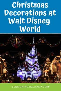 Christmas Decorations at Walt Disney World Disney World Magic Kingdom, Disney World Parks, Disney World Planning, Walt Disney World Vacations, Disney Cruise, Disney Tickets, Meet Santa, Very Merry Christmas Party