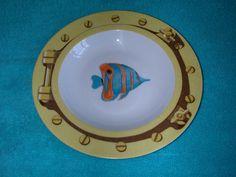 "8 1/2"" Soup Bowl~Patricia Deroubaix for FRAGILE~Butterfly Fish~Limoges Porcelain | eBay Rose Vase, Rose Decor, Vintage Bowls, Marine Fish, Cream Soup, Fish Design, Coffee Set, Porcelain, Butterfly"