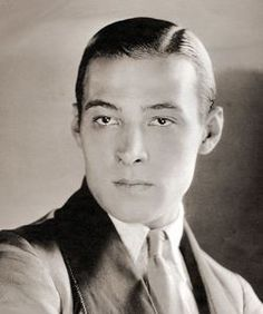 Rudolph Valentino - Born in 1895, he was a big silent screen star. Valentino was very handsome & stylish, often casted as a lover and a man of many disguises & costumes.