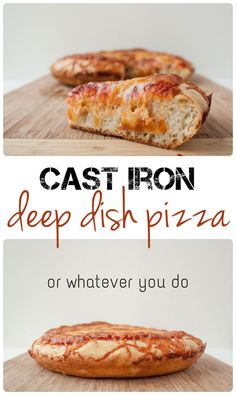 Take pizza night to a new level with this soft and crispy Cast Iron Deep Dish Pizza recipe!  Simply add your family's favorite toppings.
