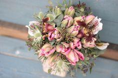 チューリップ/パフィオ/ブーケ/花束/花どうらく/花屋/http://www.hanadouraku.com/bouquet