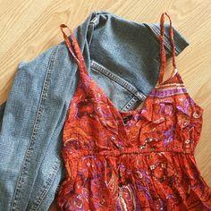 NWOT Forever 21 Paisley Dress Forever 21 red paisley dress. Never worn. Adjustable straps.  Jacket not included. Forever 21 Dresses