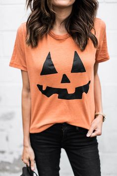 DETAILS: PUMPKIN TEE  (UNDER $50-WEARING SIZE SMALL) | BLACK DENIM (TRUE TO SIZE WEARING SIZE 25) | BLACK SUEDE BOOTIES (OLD – SIMILAR HERE) | BEIGE WATCH (UNDER $50) | AVIATORS I don't…