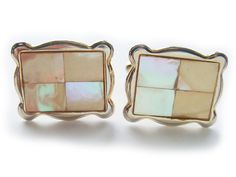 MOP Mother of Pearl Vintage Cuff Links by BreatheCouture on Etsy, $15.00