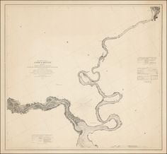 James River survey map, Virginia