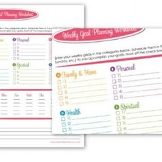 goal planning | Printables