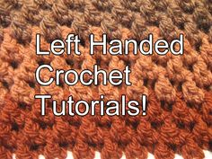 # left handed crochet for beginners Cluster Beanie - Left Handed Verison - Crochet Tutorial Tunisian Crochet, Learn To Crochet, Irish Crochet, Hand Crochet, Crochet Stitches, Knit Crochet, Crochet Hats, Crochet Crowd, Crochet Classes