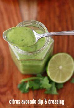 citrus avocado dressing and dip (gf, df, v, Paleo, Whole30) - one lovely life