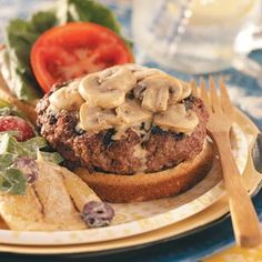 Bacon-Blue Cheese Stuffed Burgers Recipe. ☀CQ #appetizers #tailgate #football #superbowl #recipes