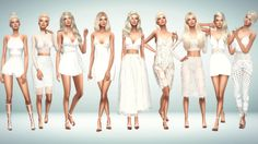 White Summer Outfits 1. Hair Retexture [xx] -... - Immortalsims
