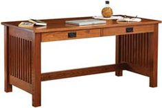 Amish Outlet Store : JD's Writing Desk in Rustic Cherry