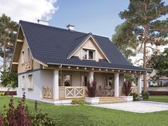 nation model homes by Biuro Projektów MTM Styl - domywstylu.pl Cottage Home Plans Cottages are heat, quaint, and welcoming. Our cottage home plans emb. Country House Design, Design Your Dream House, Country Style Homes, Country Houses, Cottage House Plans, Cottage Homes, American Houses, Model Homes, Home Fashion