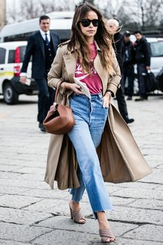 street looks : la tendance jeans vue a la Fashion week automne hiver 2016 2017