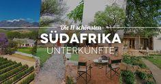 Detaillierte Beschreibung von 11 Südafrika Unterkünften im mittleren Preissegment. Unterkünfte für einen dreiwöchigen Roadtrip von Johannesburg bis Kapstadt