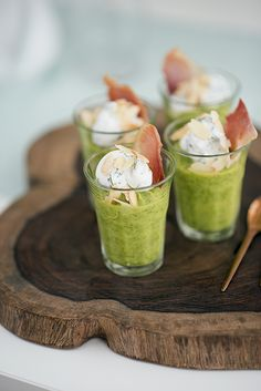 Nice presentation of salad in a glass