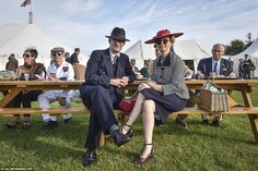 Hundreds of spectators turned out for the event, including Chris and Karen Waye from Cambr. Beach Weather, Goodwood Revival, Summer Sun, Flocking, Coast