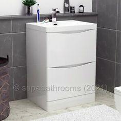 White Cabinets & Cupboards for sale | eBay Bathroom Sink Vanity Units, Basin Vanity Unit, Basin Unit, Vanity Cabinet, Cabinet Furniture, Bathroom Furniture, Cupboards For Sale, Toilet Suites, White Cabinets