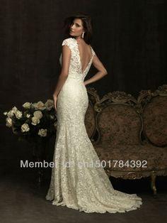 V Neck mermaid wedding dress $389.00