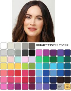 winter colors fashion color me beautiful Clear Winter, Deep Winter, Clear Spring, Winter Colors, Summer Colors, Bright Winter Outfits, Color Type, Winter Typ, Seasonal Color Analysis