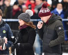 William and Kate were served with a non alcoholic version of a refreshment usually served to hockey players and spectators