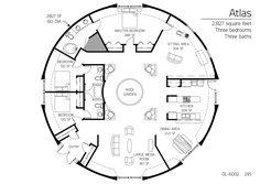 2,827 square feet Three bedrooms Three baths