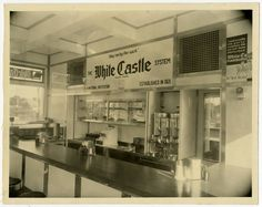 Interior view of an unidentified White Castle.