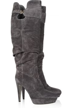 Veronica slouchy suede boots by Sergio Rossi