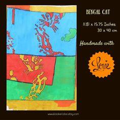 Pop Art illustration: Bengal Cats  30 x 40 cm   Shop this product here: spreesy.com/kleckerlabor_blog/75   Shop all of our products at http://spreesy.com/kleckerlabor_blog      Pinterest selling powered by Spreesy.com