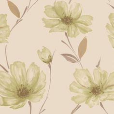 Spirit Wallpaper in Green by Graham & Brown. Our second choice for the chimney breast only
