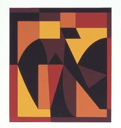 GEOMETRISM PAINTING by Victor Vasarely...