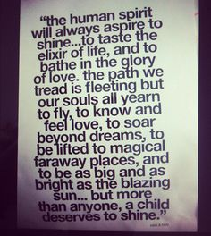 the human spirit | will always aspire to shine | sass & bide