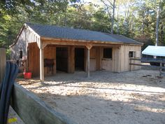 Dream Stables, Dream Barn, Farm Plans, Shed Plans, Small Horse Barns, Goat House, Horse Shelter, Horse Barn Plans, Shetland