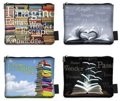 Books Coin Purse Zip Top W/Display 4 Styles (12 « Clothing Impulse