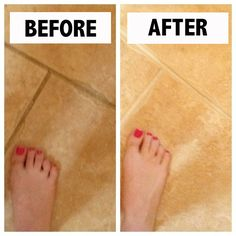 Life Hack: How to clean grout in ceramic tile floors. Resolve completely lifts up the old grime.
