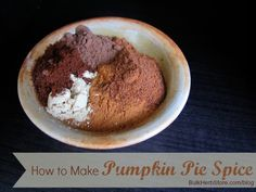 Pumpkin Pie Spice.