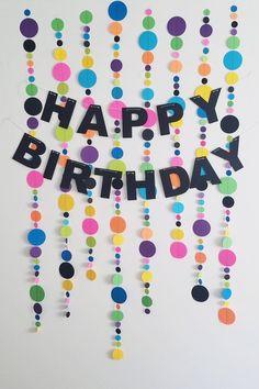 56 ideas birthday banner ideas polka dots for 2019 Simple Birthday Decorations, Hawaiian Party Decorations, Diy Birthday Banner, Happy Birthday Signs, Cute Happy Birthday, Baby Birthday, Birthday Party Decorations, Homemade Party Decorations, Polka Dot Decorations