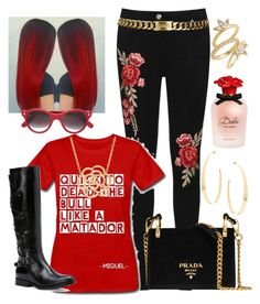"""""""Untitled #230"""" by causualtiesofaccessory ❤ liked on Polyvore featuring WearAll, Prada, Chanel, Lana, Frye, Lord & Taylor, Dolce&Gabbana, Cutler and Gross and Luv Aj"""