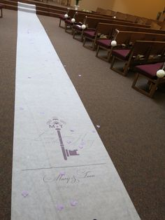 Aisle runner from Wedding Star