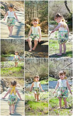 Little girls look the cutest in sun suits during summer! If you agree, you could start sewing your own little outfit with this free sun suit pattern!